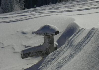 Schneemassen am Berg